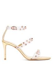 embellished sandals,embellished,sandals,gold,shoes