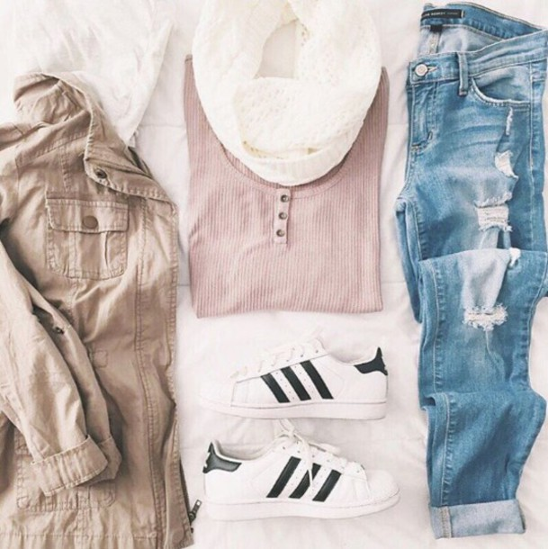 Tank top henley pale blue denim ripped jeans jacket for T shirt dress outfit tumblr