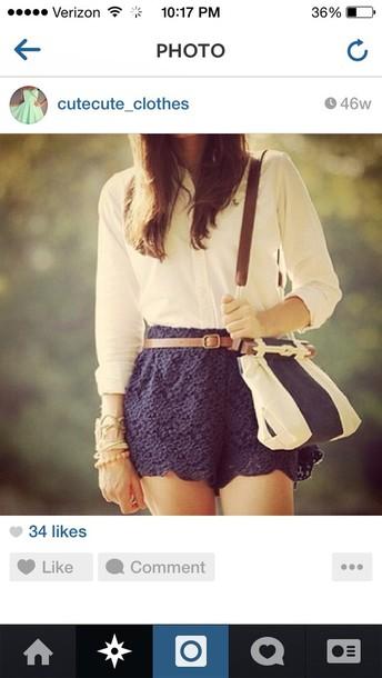 shorts blue skirt preppy