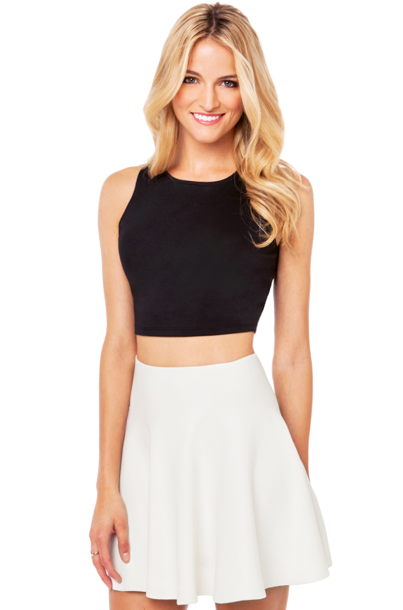 Basic Crop Top in Black