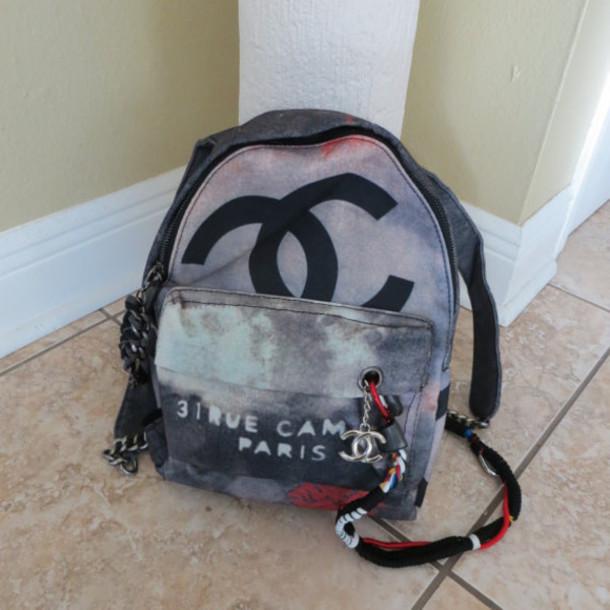 df7c79c01dd9 bag graffiti bag designer bag chanel chanel backpack chanel back pack  graffiti chanel inspired chanel purse