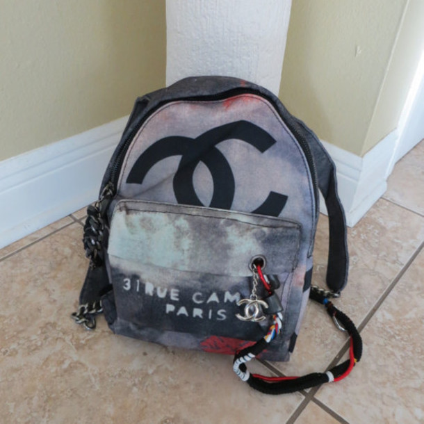 7fa9aa023cc1 bag graffiti bag designer bag chanel chanel backpack chanel back pack  graffiti chanel inspired chanel purse