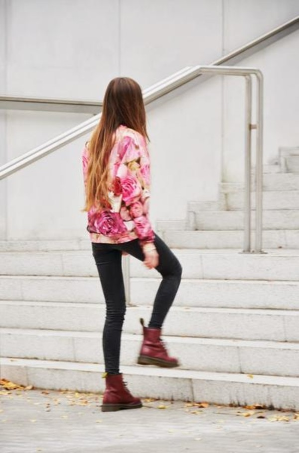 sweater sweatshirt rose d print fashion
