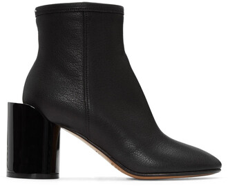 cut-out boots leather black black leather shoes