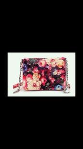 bag,topshop,purse,hamdbag,clutch,chain,flowers