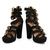 Jeffrey Campbell Donata Black Suede High Heels Gold Buckle Shoes Size 3 8 | eBay