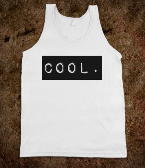 shirt tank top cool quote on it text