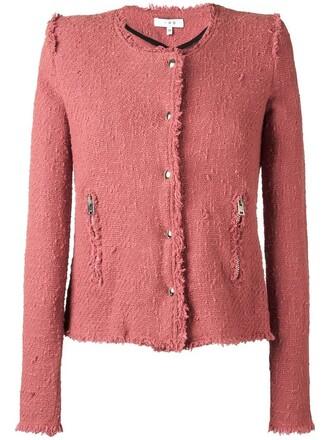 jacket women cotton purple pink