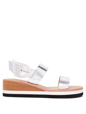 rainbow,sandals,wedge sandals,leather,silver,shoes