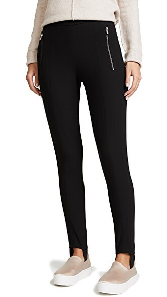 zip black pants