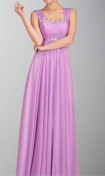 evening dress long prom dresses long formal dress empire waist purple dress wide straps, prom dress, pregnancy dress
