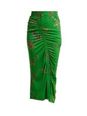 skirt,floral,print,green