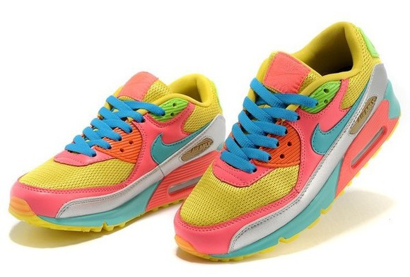 nike multicolor shoes air max color pink yellow blue green sneakers