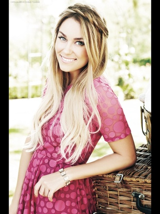 dress lauren conrad pink dress hairstyles