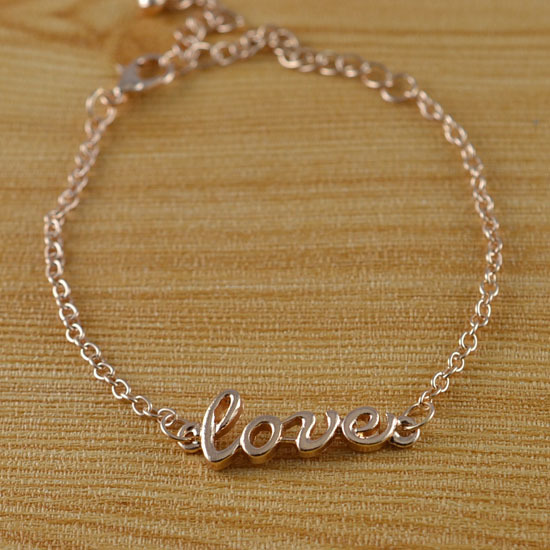 Fashion costume jewellery gold plated love charm bracelet for women girl wholeslae Min order is $10(can mix different goods)B737-in Special Store from Jewelry on Aliexpress.com