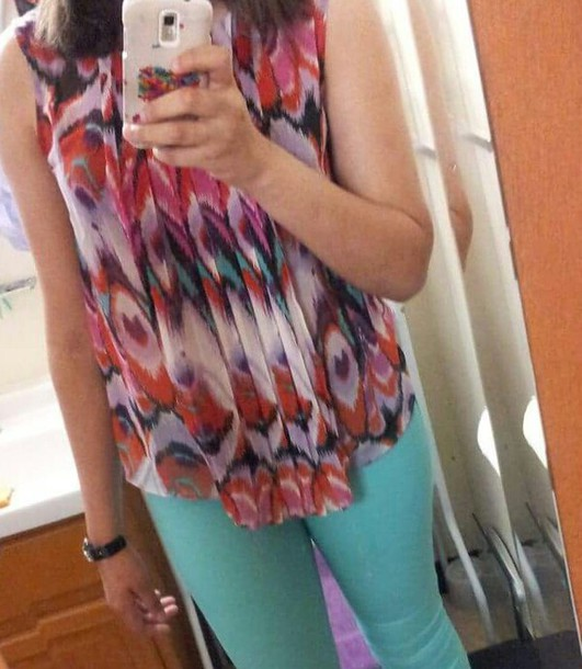 blouse multicolor