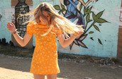 dress,orange,tumblr