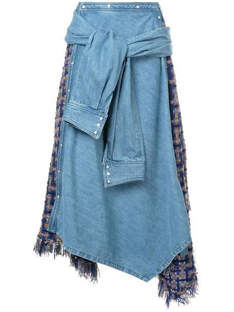 Aula skirt denim women cotton blue