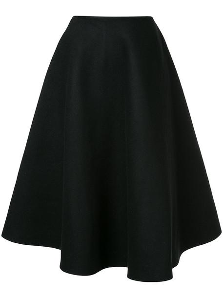 Le Ciel Bleu skirt midi skirt women midi black wool