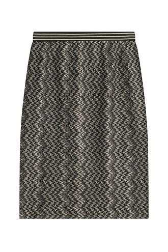 skirt knit wool black