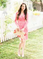 diary of a debutante,blogger,dress,bag,shoes,jewels,pink dress,clutch,straw clutch,summer outfits