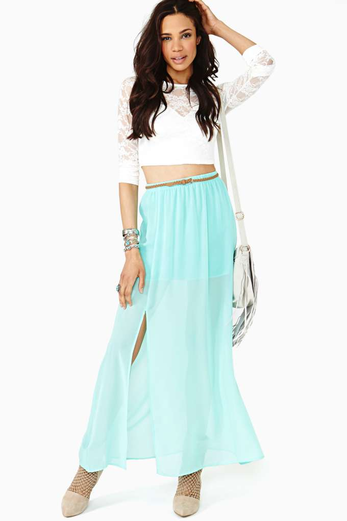 Fresh Slice Maxi Skirt | Shop Sale at Nasty Gal