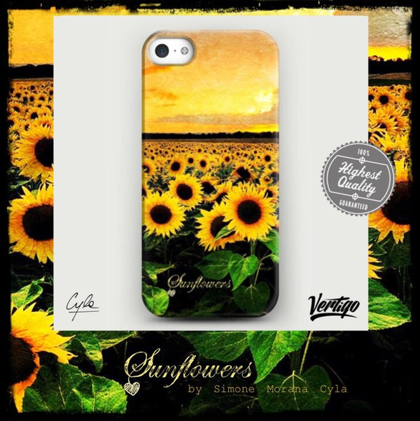 jewels sunflower fashion yellow flowers iphone case