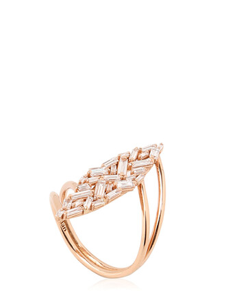 ring rose gold rose gold white jewels