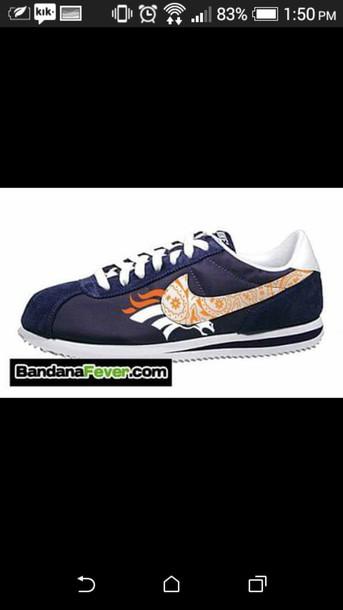 shoes broncos cortez gangsta nikes nike cortez 303milehigh