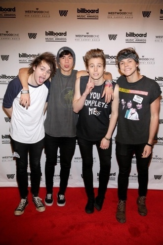 t-shirt luke hemmings 5 seconds of summer calum hood ashton irwin michael clifford mens t-shirt black