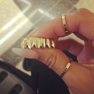 jewels gold classy tumblr fangs