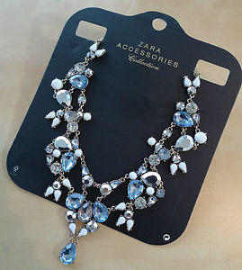 Stunning! zara coloured crystal stones necklace