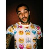 emoji print,emoji shirt,top,bag,mens t-shirt