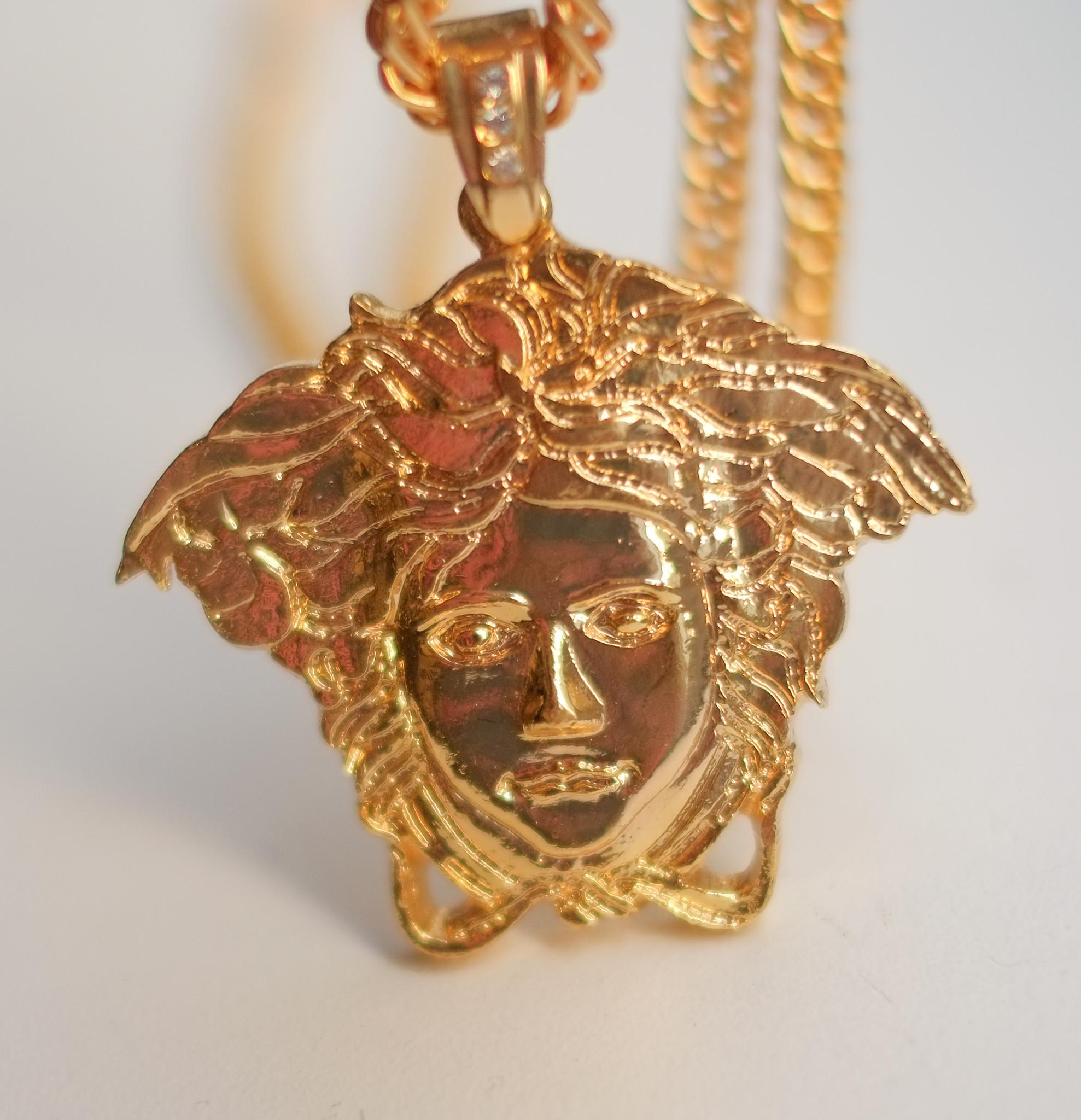 Exclusive medusa face necklace