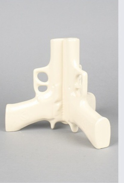 Bag White Gun Vase Wheretoget