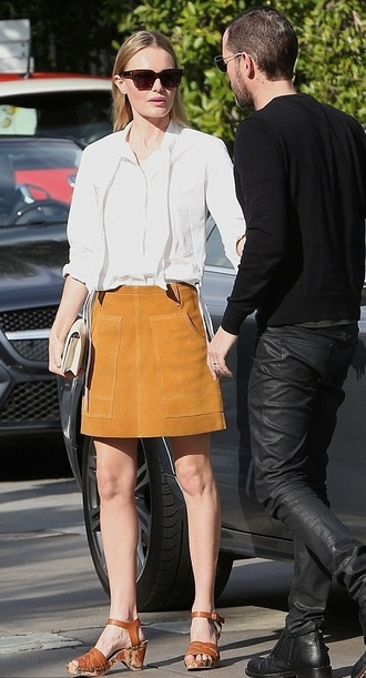 skirt kate bosworth blouse shoes
