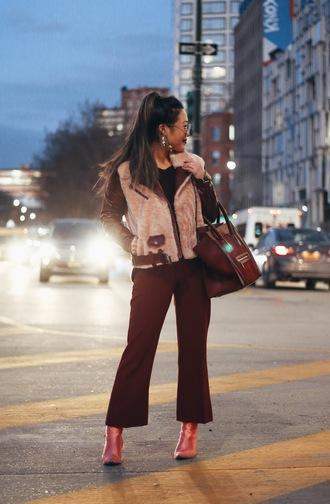 gracefullee made blogger jacket pants bag jewels shoes sunglasses make-up