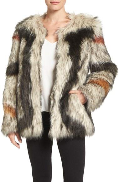 Trina Turk 'Paisley' Faux Fur Coat | Nordstrom