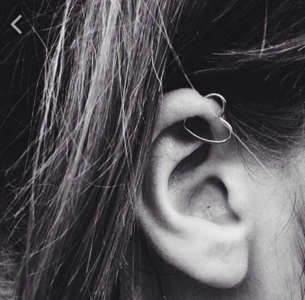 448228bf1 jewels, earings, piercing, heart, cartilage, girl, ear piercings ...