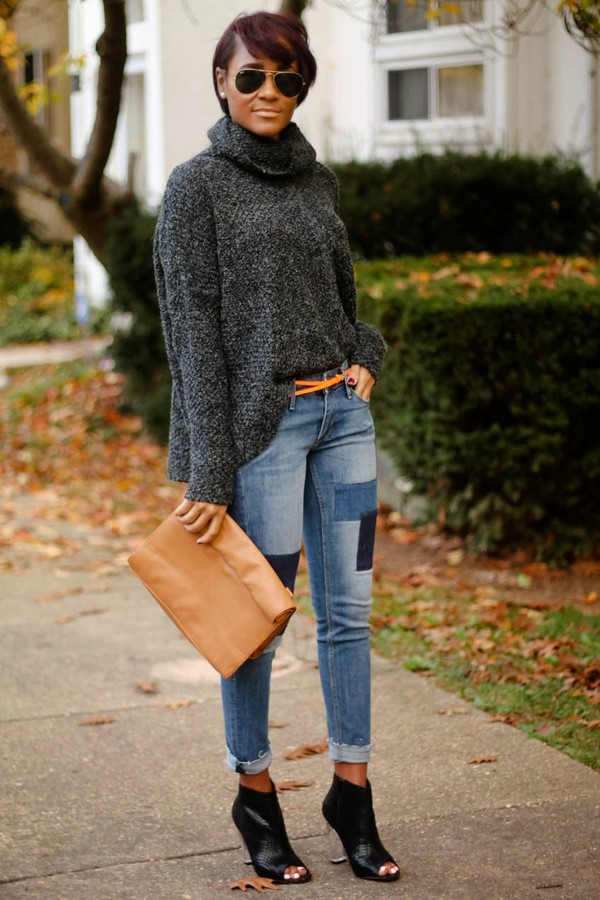 the daileigh sweater pants sunglasses bag shoes