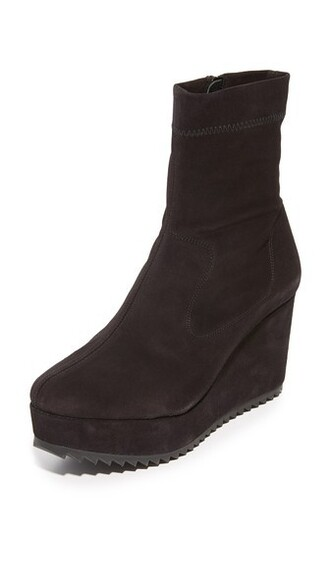 wedge booties booties black shoes