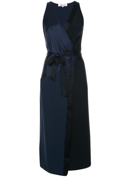 Dvf Diane Von Furstenberg dress wrap dress women blue
