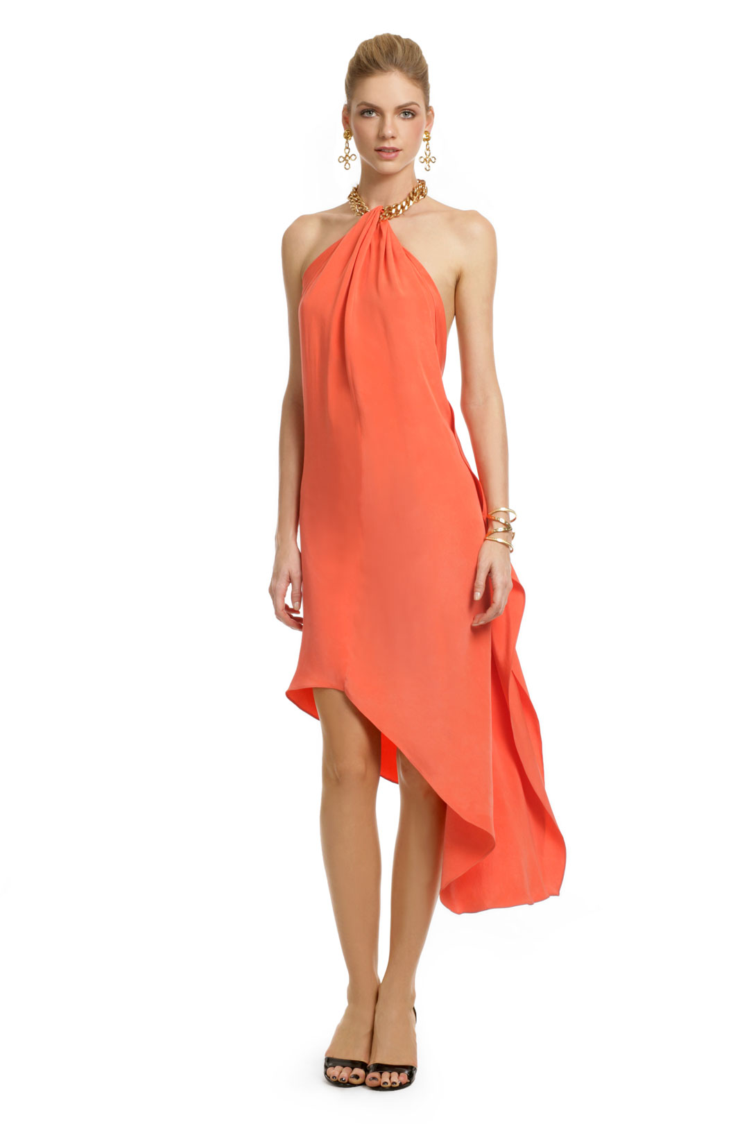 Asymmetric Island Chain Dress by Robert Rodriguez Black Label at $85 | Rent The Runway