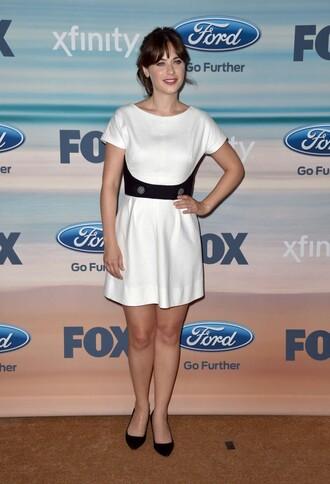 dress white dress zooey deschanel new girl