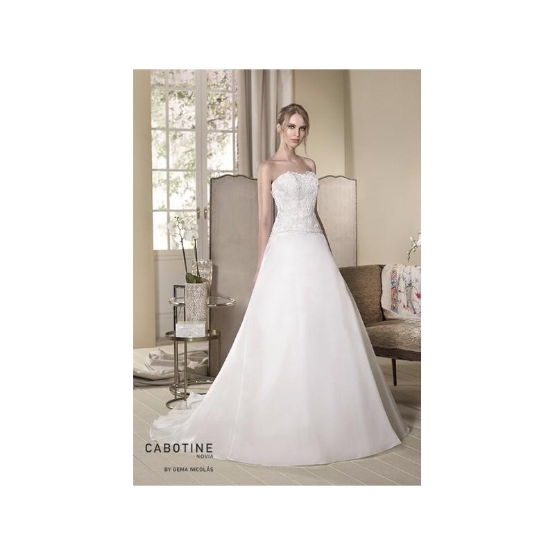 Vestido de novia de Cabotine Modelo Aster frente - 2017 Princesa Palabra de honor Vestido - Tienda nupcial con estilo del cordón