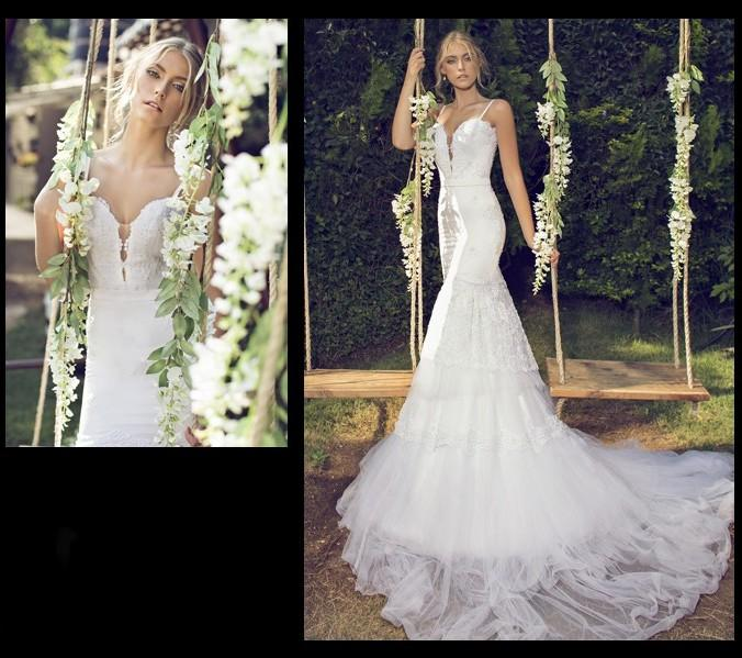 Gorgeous Mermaid Wedding Dresses Sweetheart Spaghetti Straps Lace