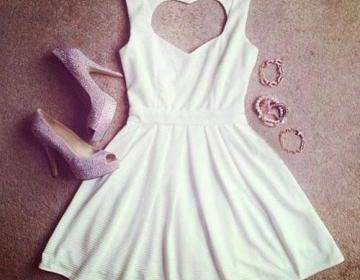Hearts with dress