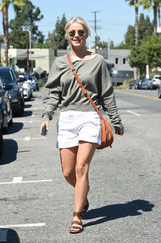 sweater shorts julianne hough streetstyle