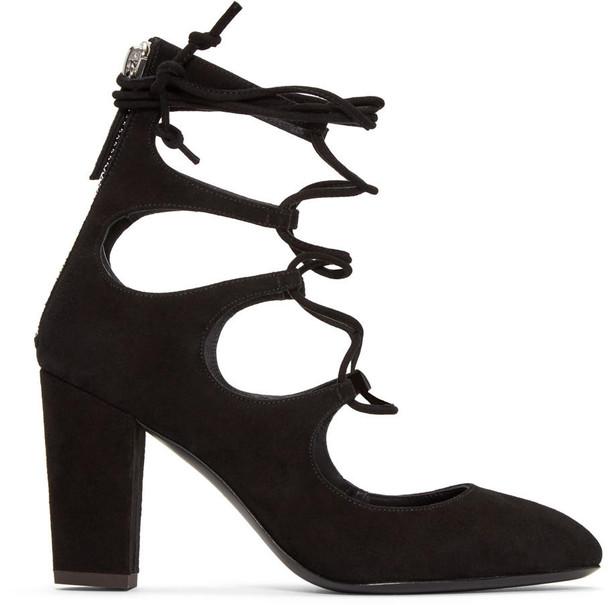 Giuseppe Zanotti heels suede black shoes