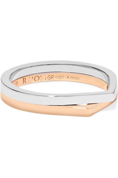 Repossi - Antifer 18-karat Rose And White Gold Ring - Rose gold